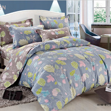 flower printed Fitted sheet (Rubber around) bed linen