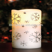 2014 hottest christmas flameless led wax candle