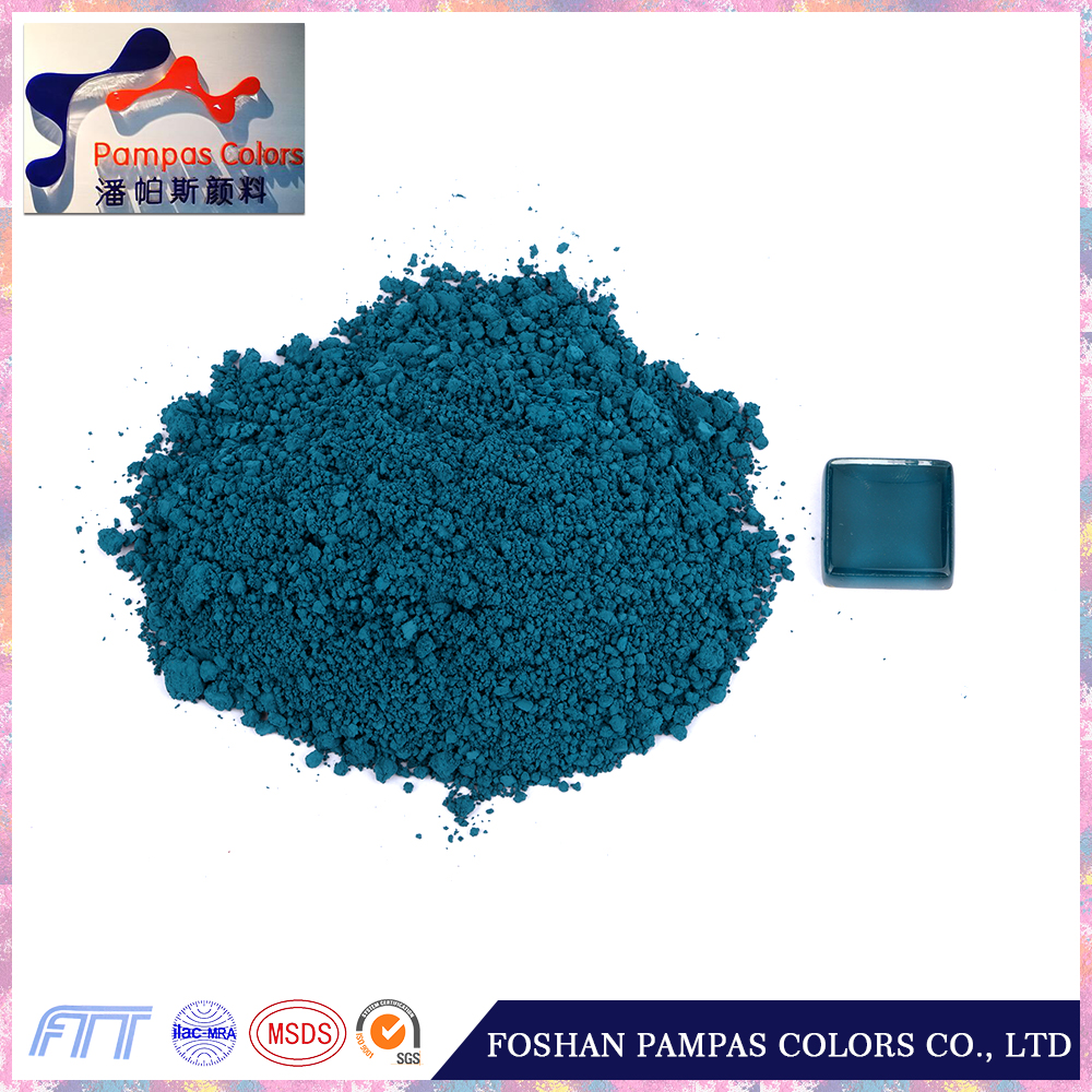 New product 2016 turquoise blue pigment powder for body stain to color glass and mosaic