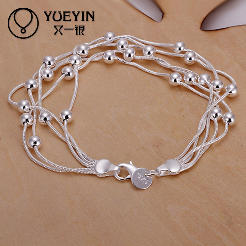 Fashion multi thin strand beads bracelet