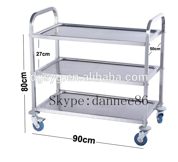 Brand New Utility Trolley 3 Shelf Stainless Steel Kitchen