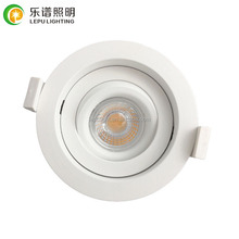 UGR changeable 83mm cutout gyro dimmable led downlight recessed with bridgelux cob lens high cri>92