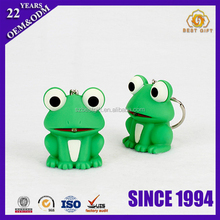 Shenzhen supplier sales frog pvc cartoon plastic toys keychain