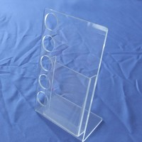 Acrylic Cosmetic Holder with information Stands, Acrylic info Holder, Clear Booklet Display