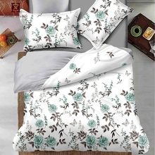 Wholesale cheap flat printed fancy designer queen bed sheets set with labels