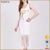 Ladies Modern Dress With Tassels Bulk Wholesale Stylish Maxi Dresses