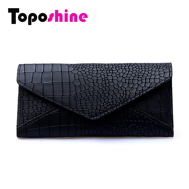 Toposhine Stone Fashion Women Wallets Solid Color Wallet ID Card Holder Coin Purse Pockets Girls Clutch  Hot Women Wallets 1352