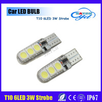 Wholesale led 6 smd w5w / 194 / T10 led, strobe Auto led, 3w led light Car led white color