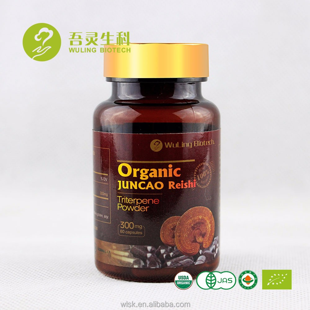 Amazon hot selling alibaba online sell lingzhi extract triterpenoid 4% pills