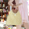 Good Quality Straw Bag with Rattan Handle