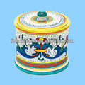 Ceramic decorative colorful apothecary jar with lid