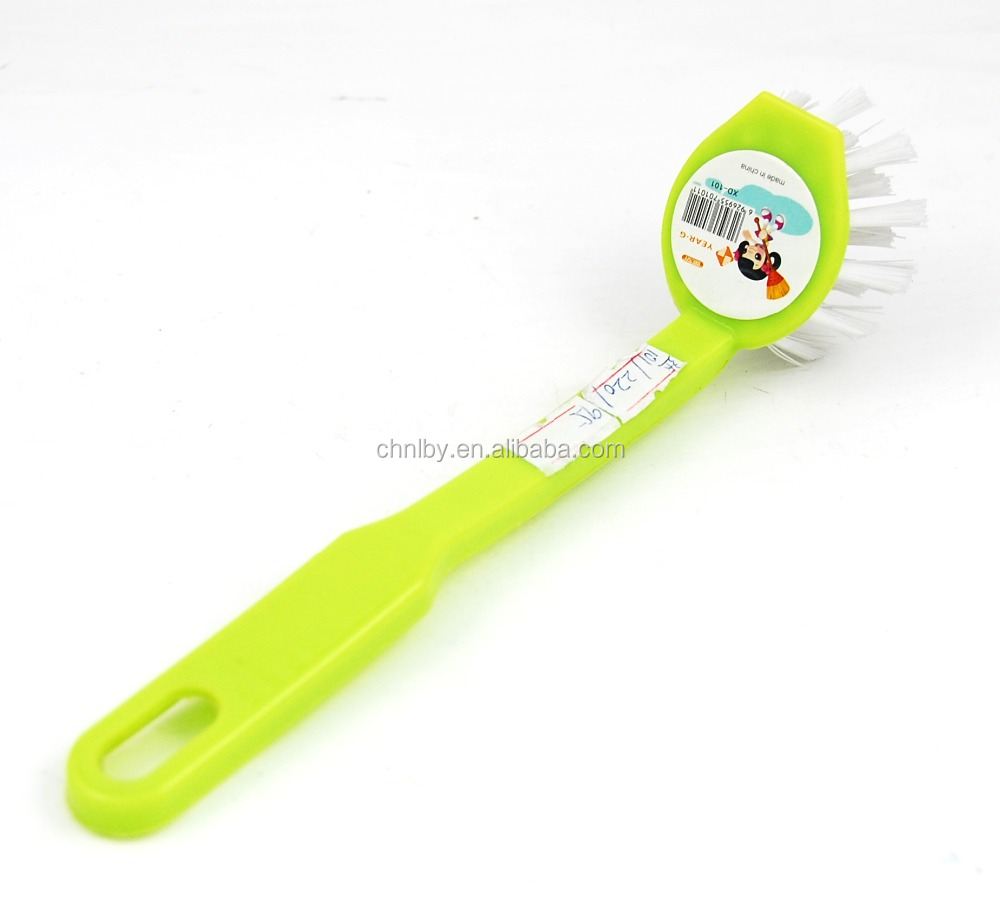 Long soft handle cleaning brush