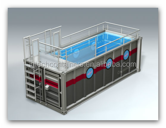 6m Container City Pool, shipping container swimming pool