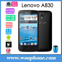 Original 5.0 inch IPS New Lenovo A830 MTK6589 Quad Core Android Mobile Phone Android 4.2 1GB Ram