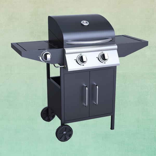 En acier inoxydable 2 br leur barbecue gaz avec br leur - Barbecue gaz avec bruleur lateral ...