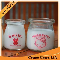 100ml Cute Rice Pudding Jar Custom Made Glass Jar