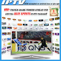 French/Arabic/Africa IPTV account APK APP, 1 year validity for Android box free test for 1 day