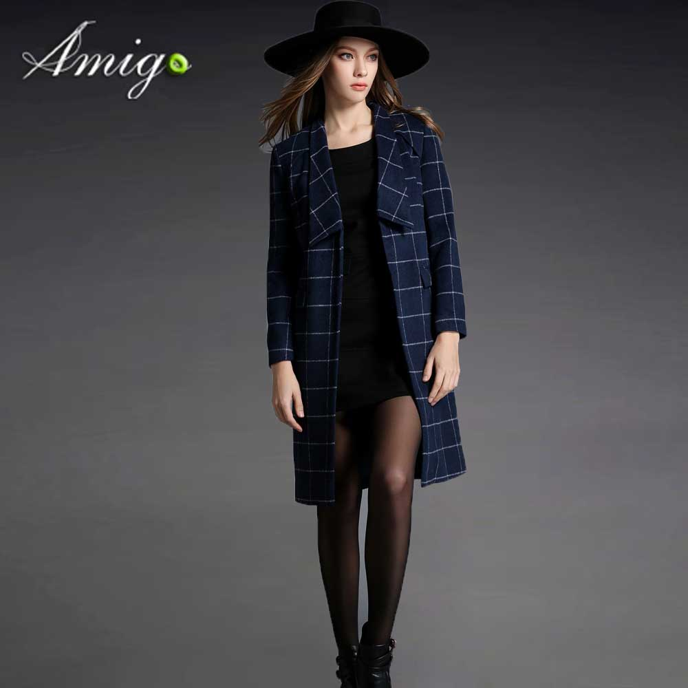 Fashion brand dress Plaid jacket for office women OL dress coat