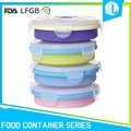 Anti-aging silicone material stackable round food container