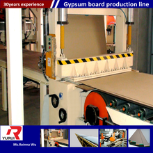 China automatic gypsum board manufacturing machine/plaster of paris ceiling tiles board production line
