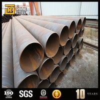 plastic coated gas pipe , astm a252 piling steel pipes spiral welded pipe