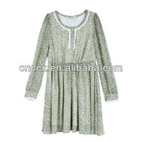 13CD1030 Dresses new fashion 2013 lace dress long sleeve dress