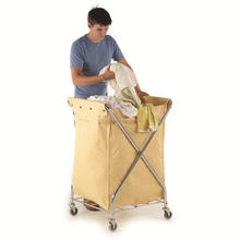 collapsible laundry trolley Transport Up to 120 Pounds Water Resistant Heavy Duty Canvas