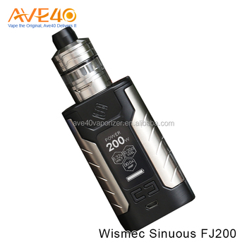 100% Genuine 4600mAh WISMEC SINUOUS FJ200 with Divider TC Kit Electronic Cigarette
