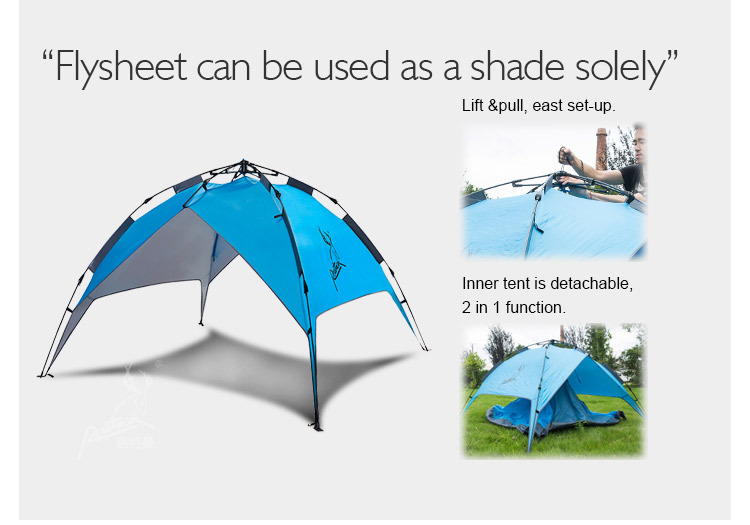 Quick-opening in 3 seconds Automatic double-layer tent 4-5 Person camping tent