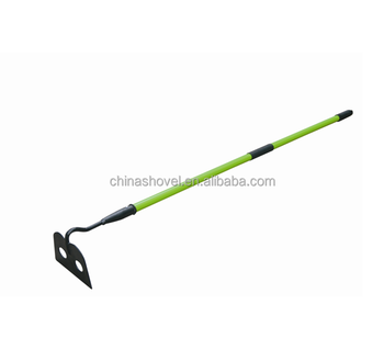 SH002 garden rake with long fiberglass handle