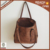 TT001CZ Brown Faux Leather Tote Bag Women for Wholesale