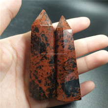 wholesale natural red obsidian quartz crystal wand point