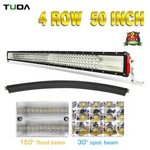 Hot Product Wholesale 8D Reflector Led Light Bar Waterproof IP68 50 Inch 888W Super Bright Four Rows For Cars