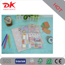 Customized stickers lace tape decorated paper scrapbook kit