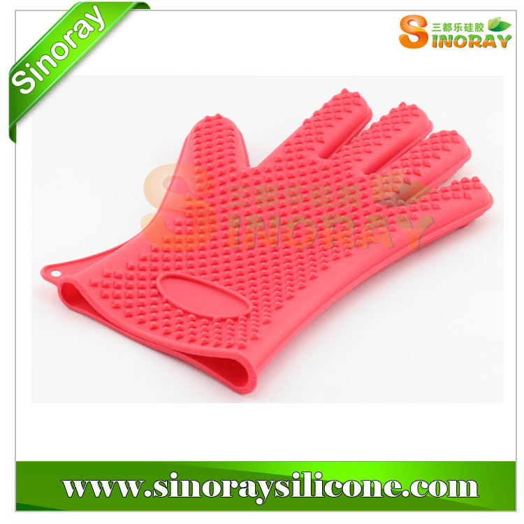 Heat Safety Silicone Waterproof Heat Resistant Gloves