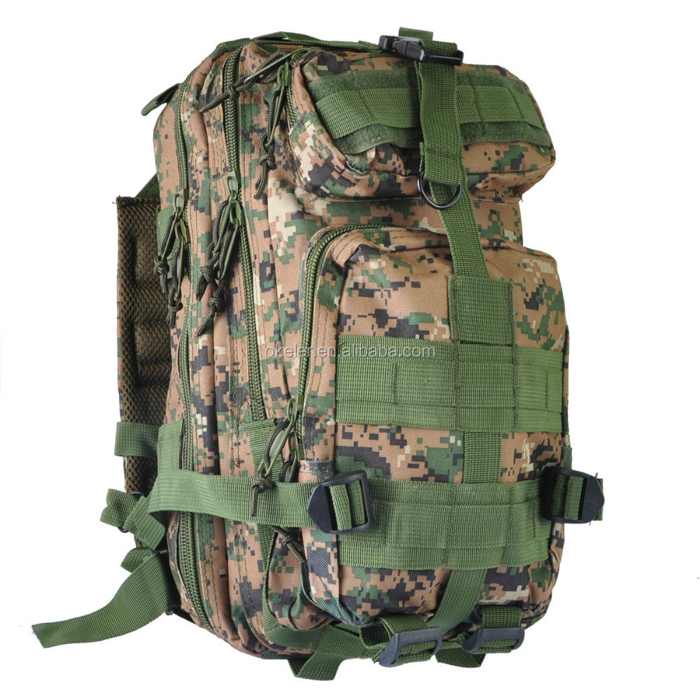 2017 New Woodland Camouflage Military Tactical Backpack military woodland camo backpack