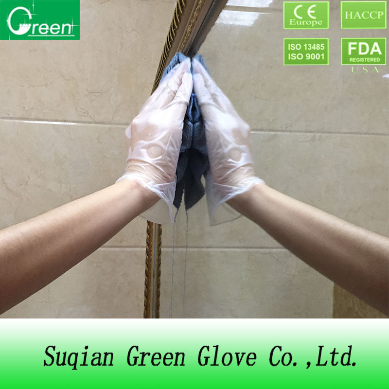 good quality cpe and pe gloves clear color