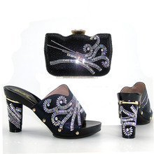 Hot Selling African Shoes And Bag Set/Italy New Design Shoes And Bag Set/African Shoes And Bag To Match THS17-14