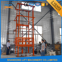 Indoor outdoor electric hydraulic scissor lift platform for cargo