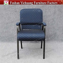 Hot selling hotel furniture used stacking metal church chair YC-G148