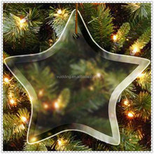 Wholesale Blank Glass Star Ornament For House Decoration
