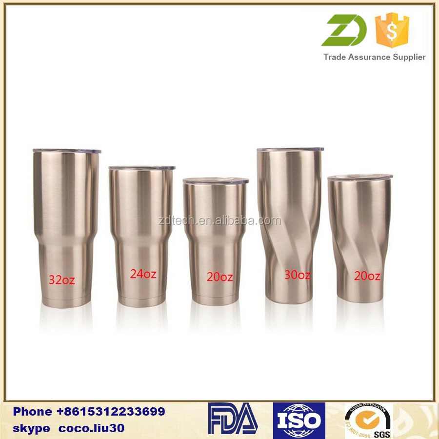 20 Ounce Double Wall Insulated Stainless Steel Tumbler with Slider Lid and Handle ZDS1204