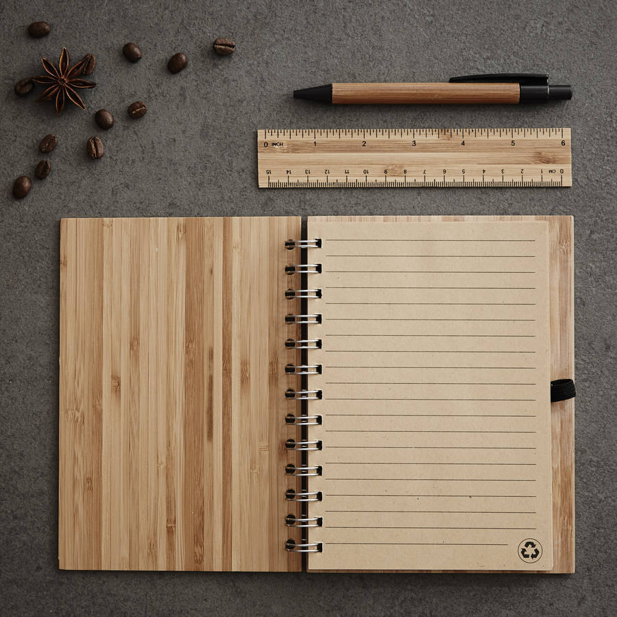 amazon top seller 2019 Bamboo Cover Smart A5 Classmate wooden notebook