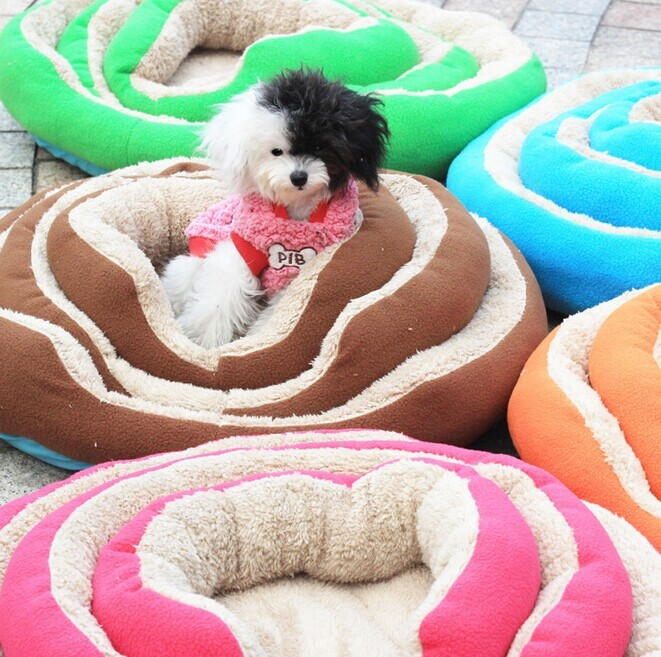 Lambwool Pet Round Bed Dog Bed China Pets Supplies Wholesale Dogs Furniture Pet Products