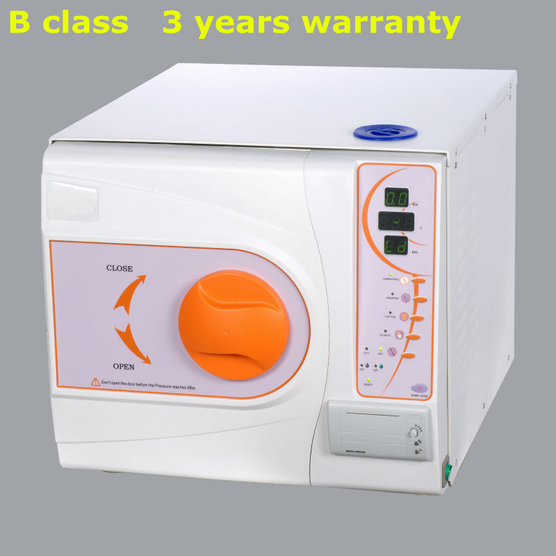 18Liters with printer steam sterilization autoclave Europe B class with CE and ISO 3 years warranty