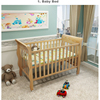 Royal Luxury Wooden Baby Crib Europe