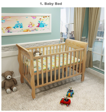 Royal Luxury Wooden Baby Crib/ Europe French Style Wooden Single Baby Cot Bed