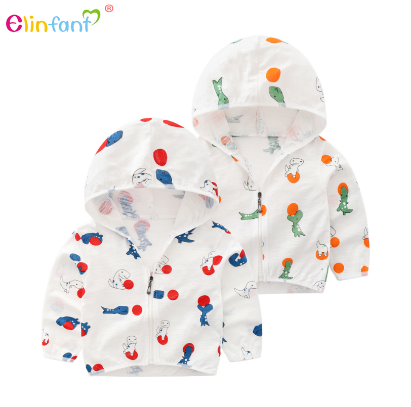 Elinfant New T-shirts sun protection clothing unisex cardigan long thin coat