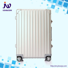 high quality hard case multi-color luggage travel aluminum trolley suitcase factory price