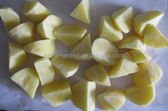 Organic cultivation IQF frozen export potato lump prices
